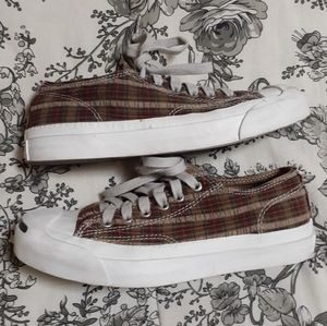 PLAID JACK PURCELL CONVERSE SNEAKERS SZ 5.5